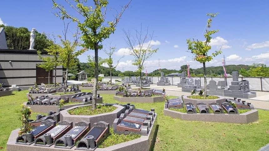 大阪生駒霊園の樹木葬区画