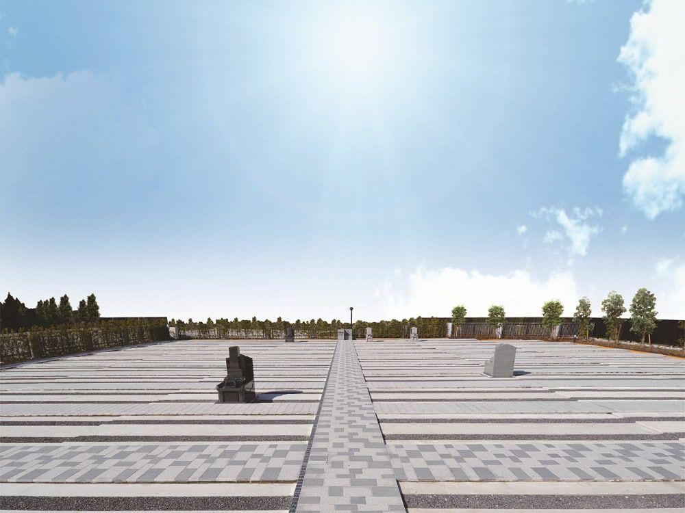 武蔵メモリアルコート 石畳の参道