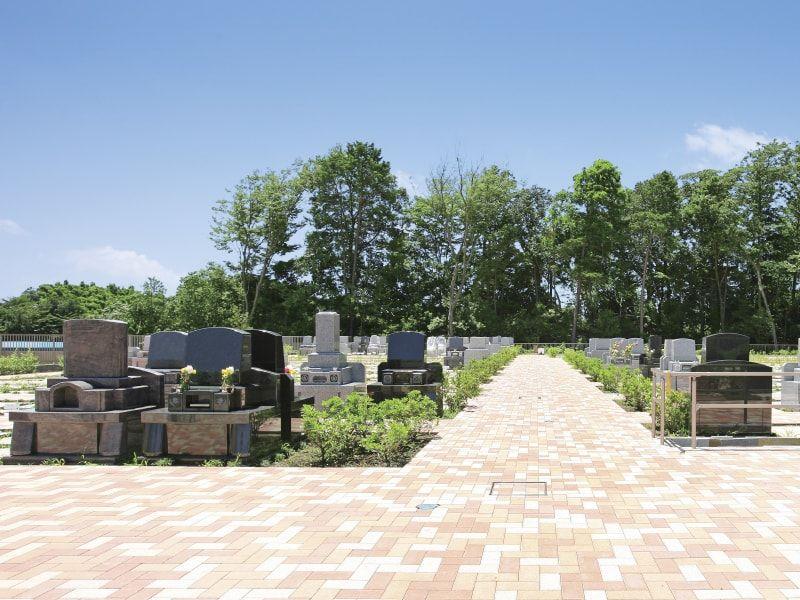 メモリアルパーク緑の丘の平坦で広い参道