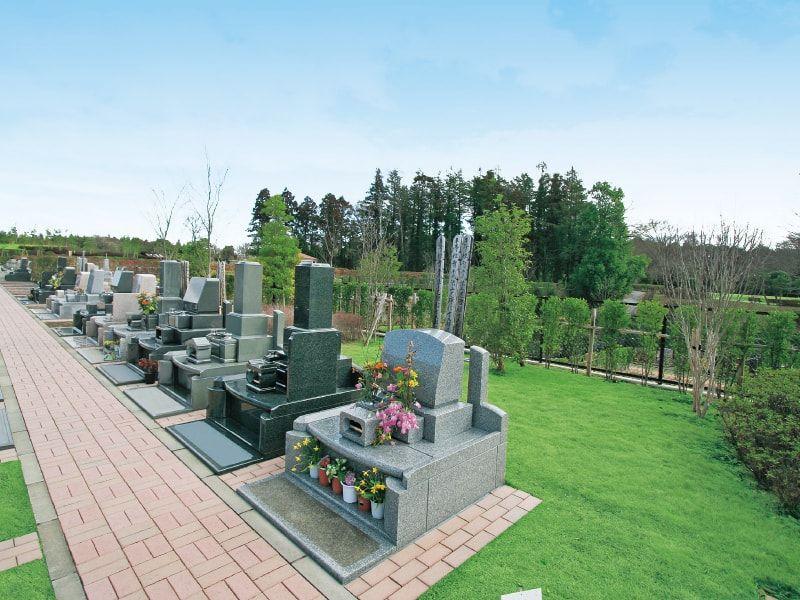 アドミール座間 緑に囲まれた墓域