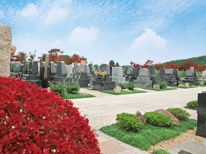 日本庭園陵墓 紅葉亭 緑あふれる墓域