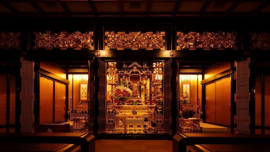 大須陵苑にある興安寺本堂