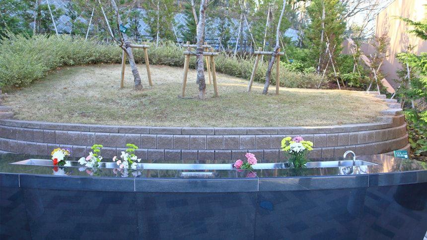樹木葬の霊園の様子
