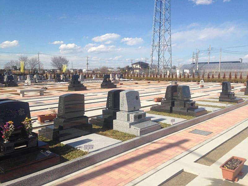 越谷しらこばと霊園 グリーンタイプの墓地
