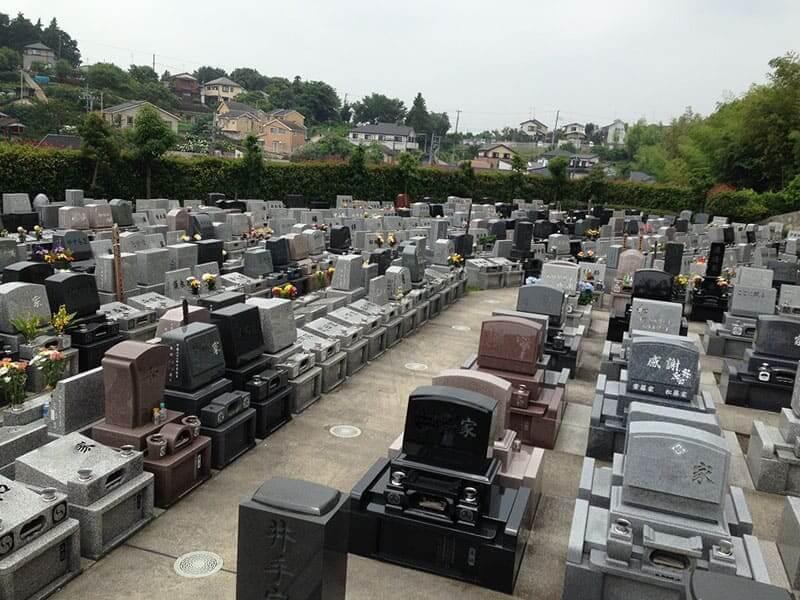 旭の郷 バリアフリー設計の平坦な墓域