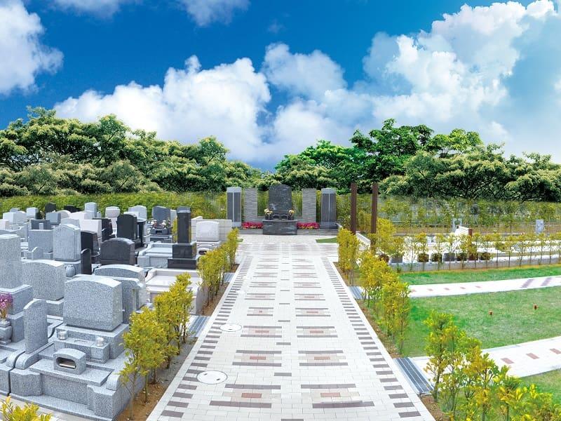 墓地公園ならしのガーデンパークの園内風景