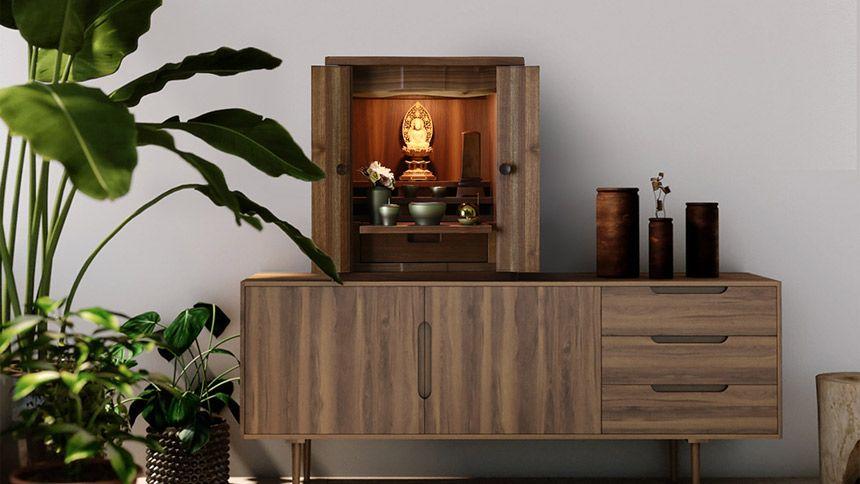 インテリア仏壇ルミエールのモダン仏壇
