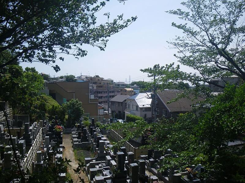 陽林寺 周囲は閑静な住宅街