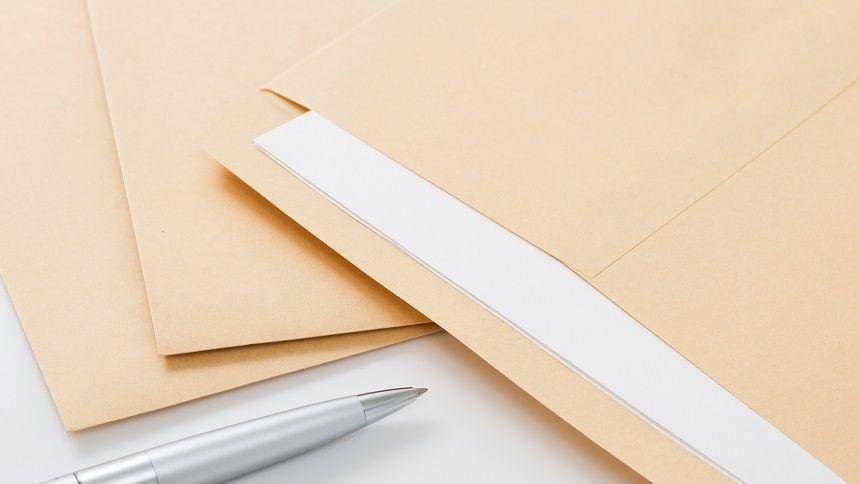 封筒の書類