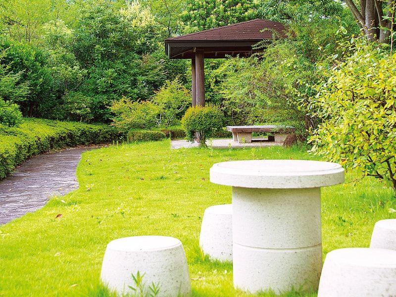 東京多摩霊園 休憩スペース