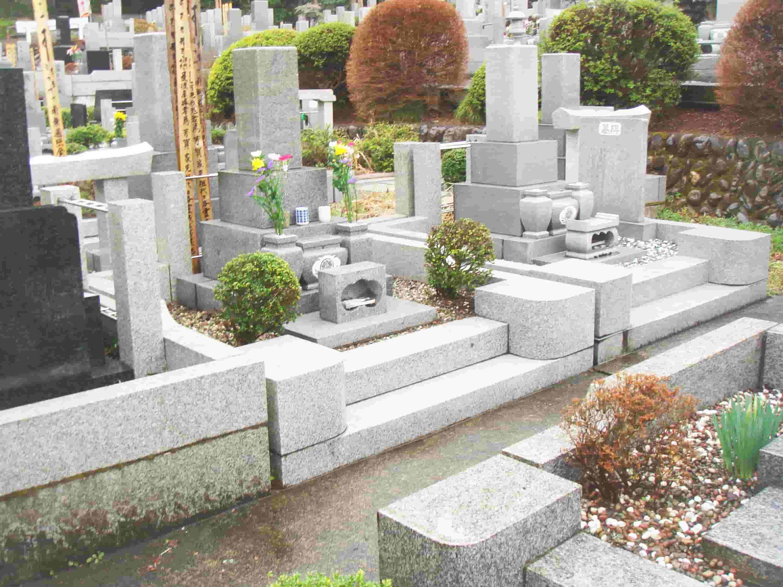 墓じまいの費用例の墓石