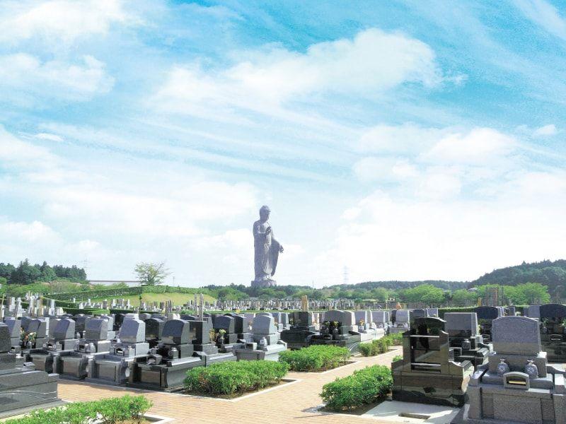 牛久浄苑の墓所と牛久大仏