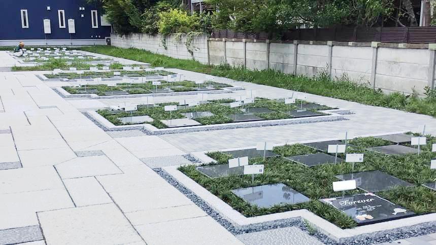 小平 寳縁の庭の区画