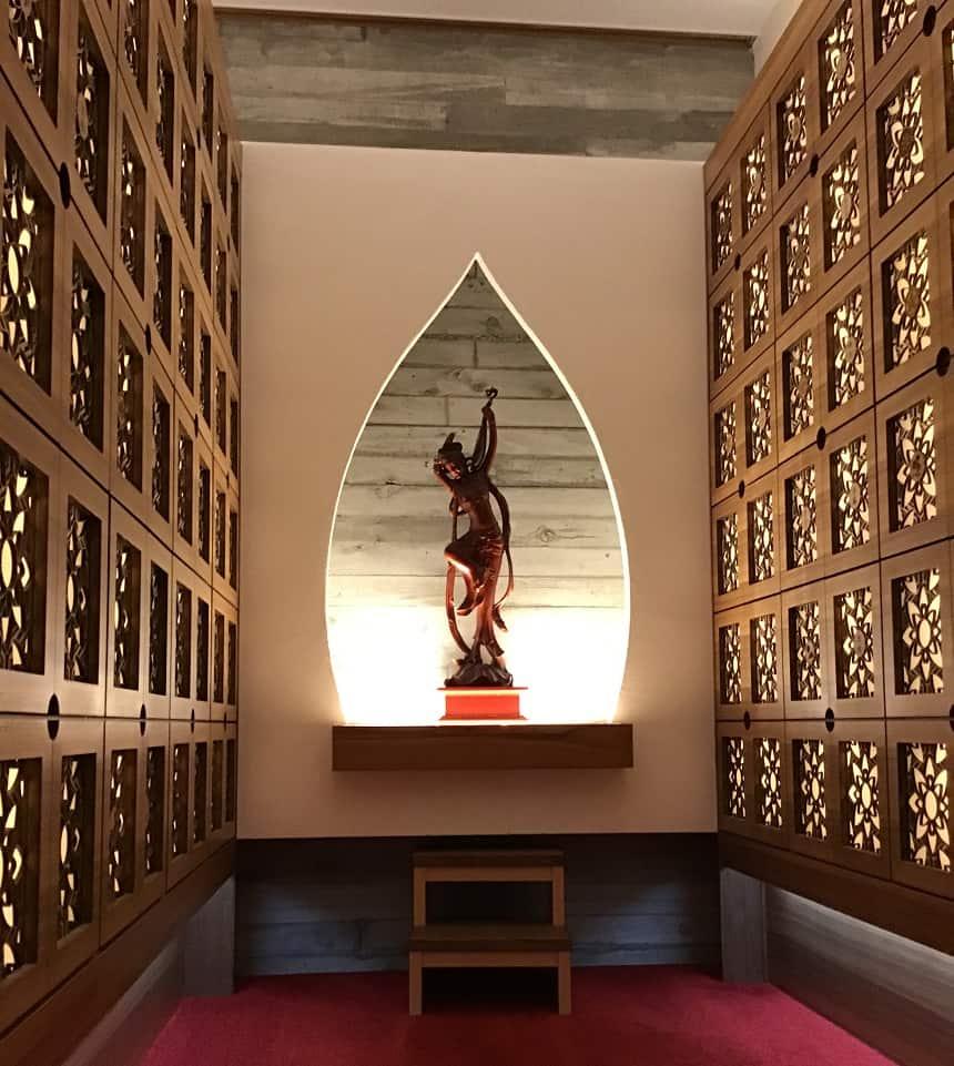 武蔵陵苑の納骨壇スペース