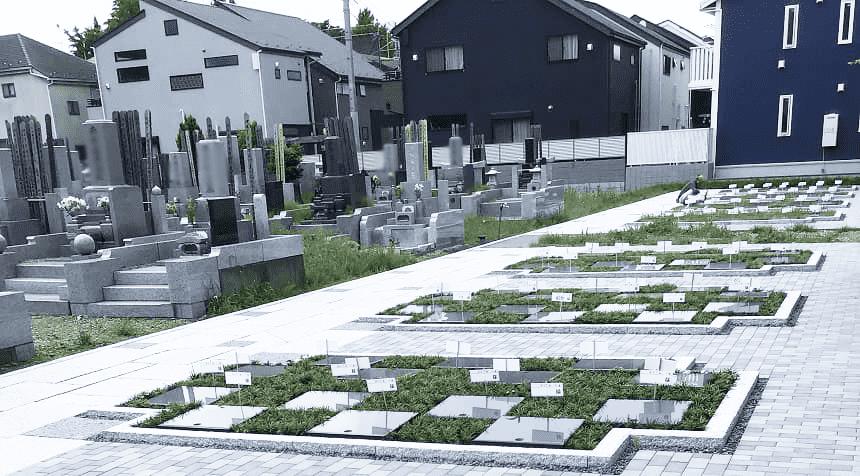 小平 寳縁(ほうえん)の庭の区画