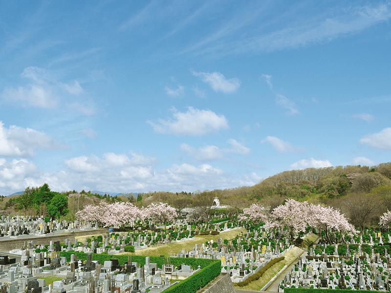日蓮宗 寳祐山 大法寺・まや霊園 季節の花が美しい霊園全景