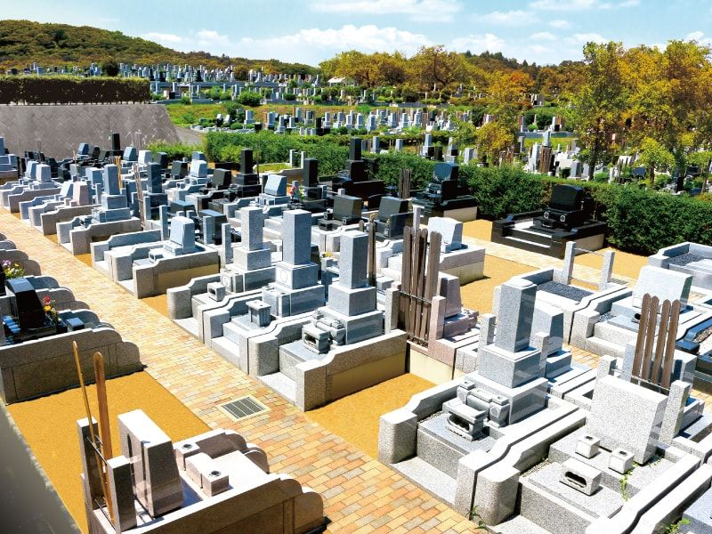 日蓮宗 寳祐山 大法寺・まや霊園 日当たりが良く明るい墓域