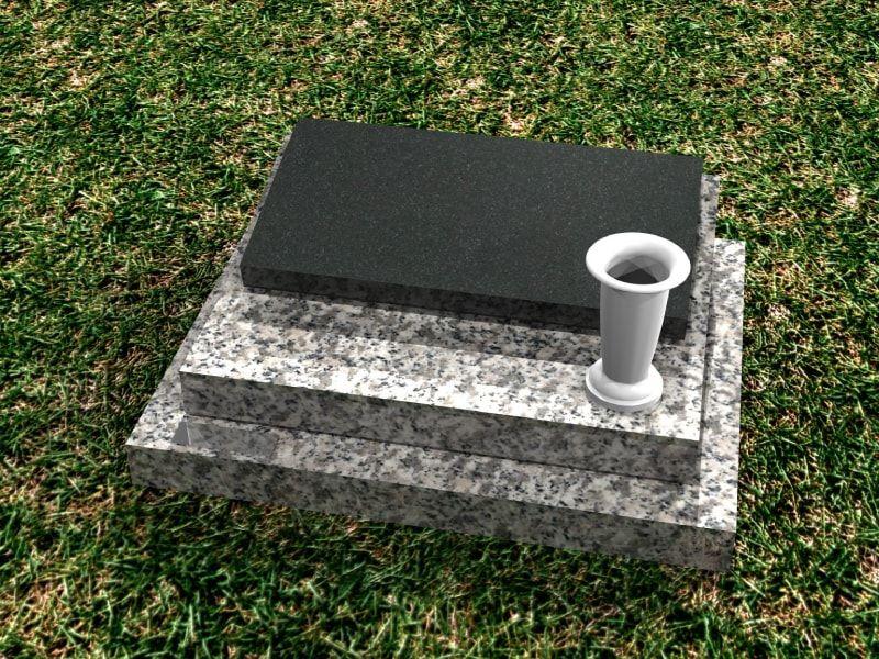 公営 稲城・府中メモリアルパーク 墓石と花立て
