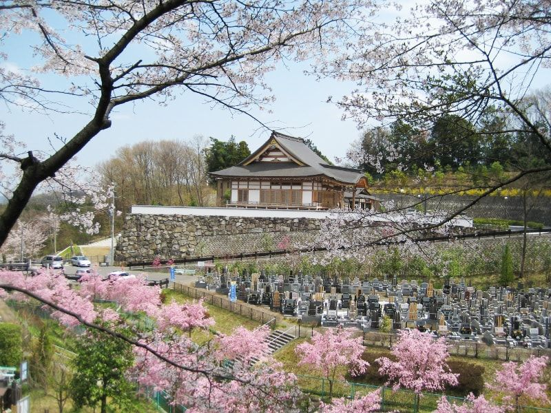 青葉霊苑 春には桜も楽しめる霊苑全景