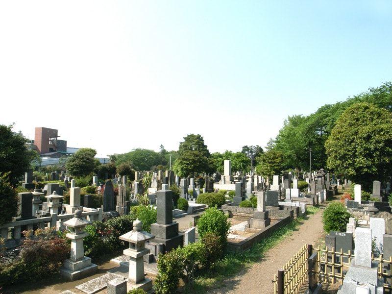 都立 染井霊園 日当たりのよい墓域