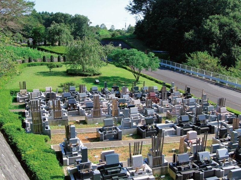 武蔵岡霊園 緑が美しい墓域