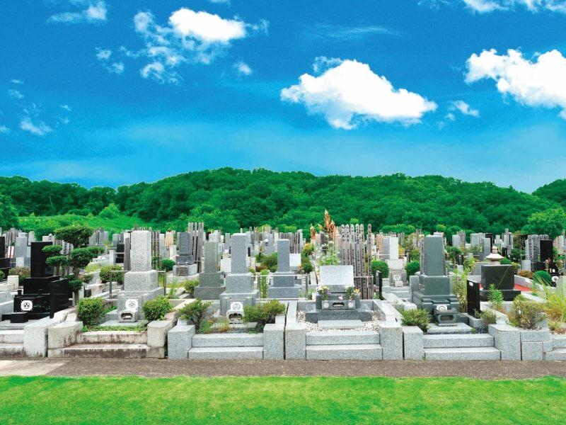 片倉聖地霊苑 日当たりが良く明るい墓域