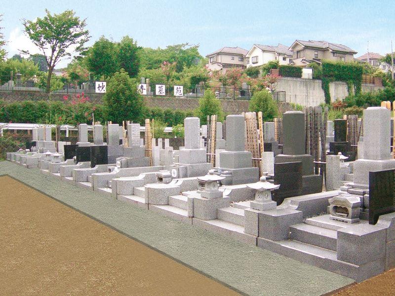 妙観寺墓苑 緑豊かな明るい墓域