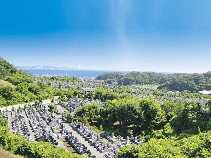 三浦霊園の墓地全景