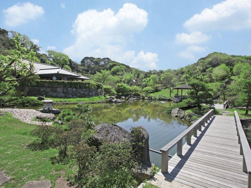三浦霊園内にある池と自然