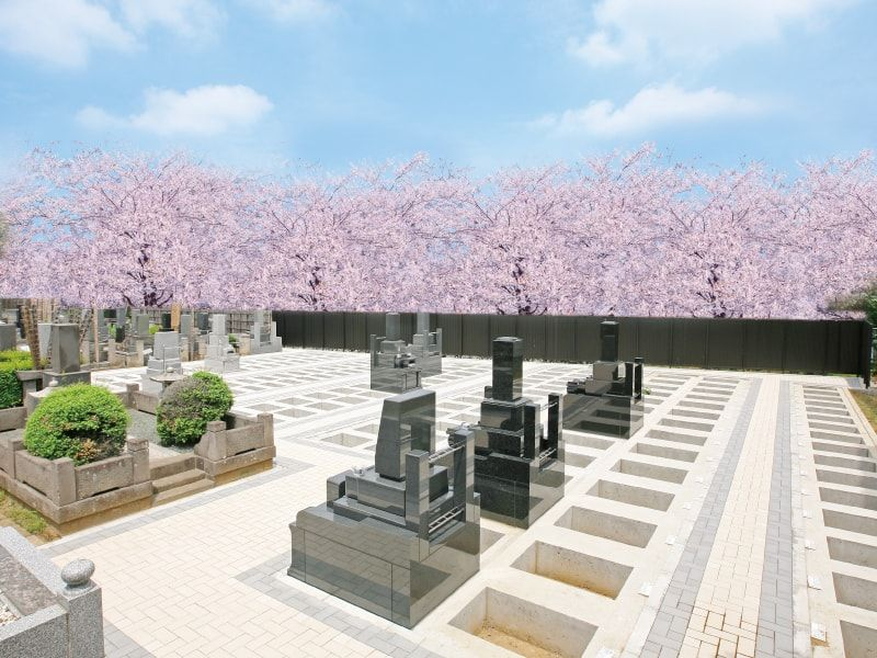 千手院の墓地風景