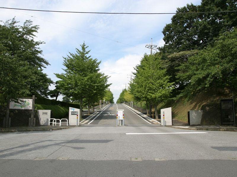 市川市霊園の入口