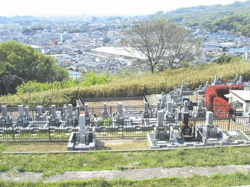 柏原国分ヶ丘墓苑からの風景