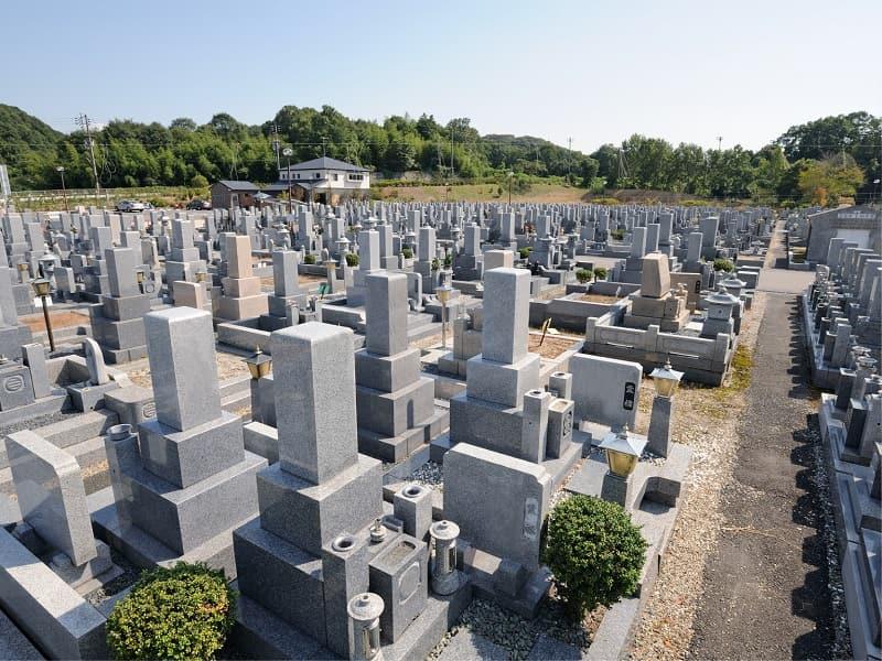 京阪奈墓地のお墓区域雰囲気