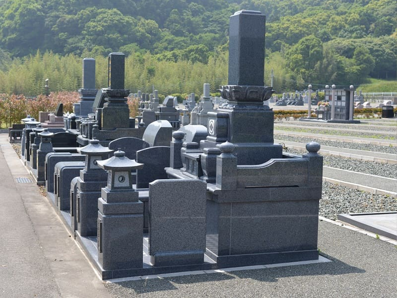 メモリアルパーク宮地岳の墓石和型