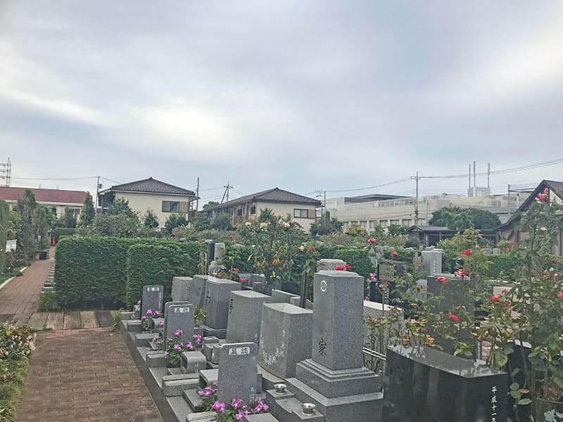 府中ふれあいパークの墓石