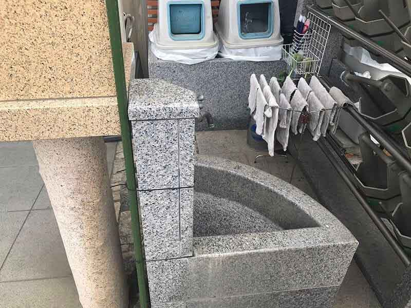 メモリアルガーデン三鷹水汲み場
