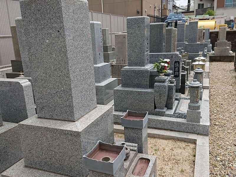 十三墓地の墓域例