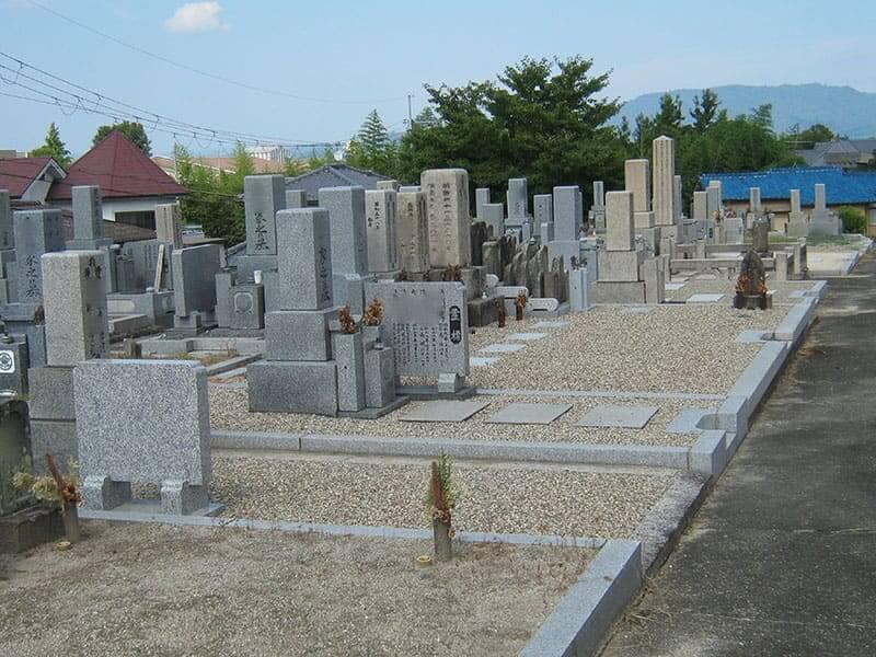 七条町南山墓地のお墓雰囲気