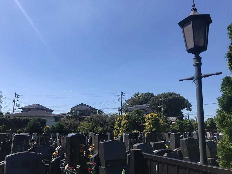 メモリアルパーク川口山王 墓地の全景