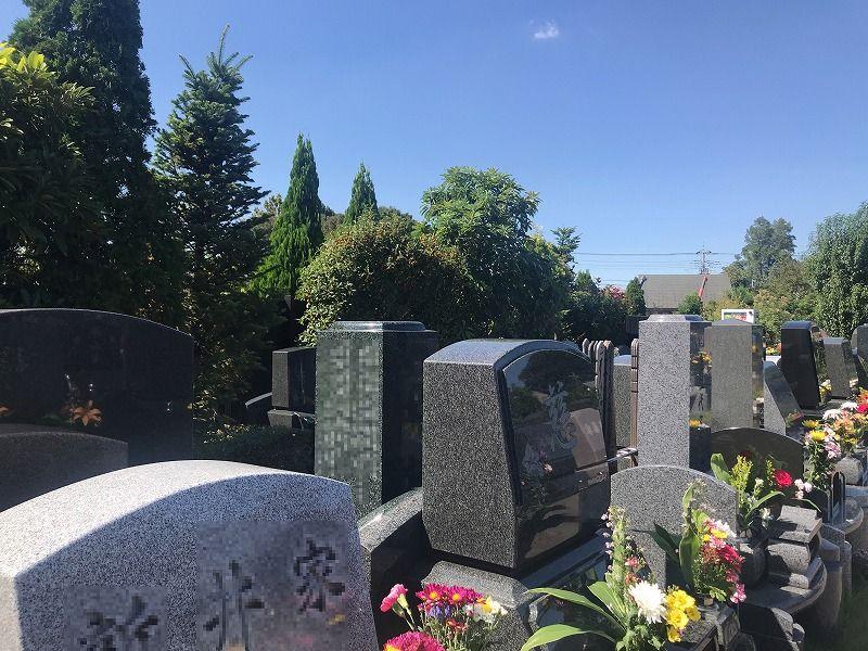 メモリアルパーク川口山王 一般墓所の建立例