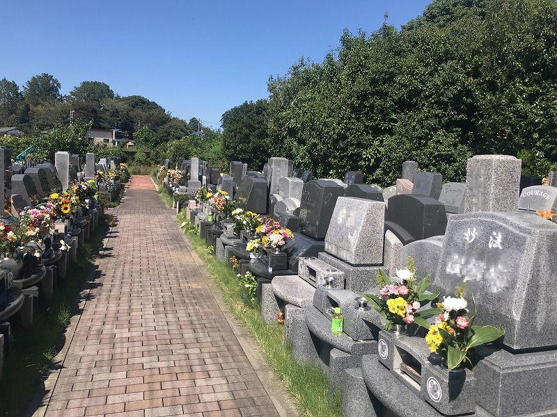 メモリアルパーク川口山王 一般墓所の風景
