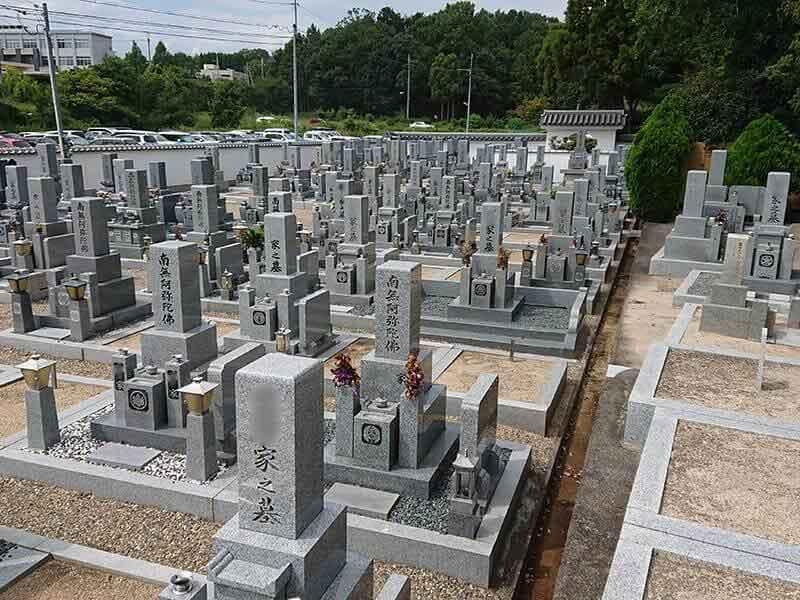 発志院墓地の墓域全体