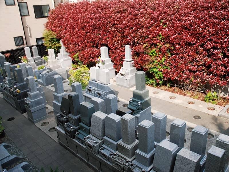 長巌寺墓苑墓域の雰囲気