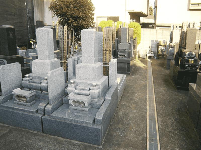 日曜寺墓苑のお墓雰囲気
