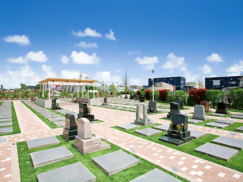 大宮霊園 第二期 芝生墓地風景