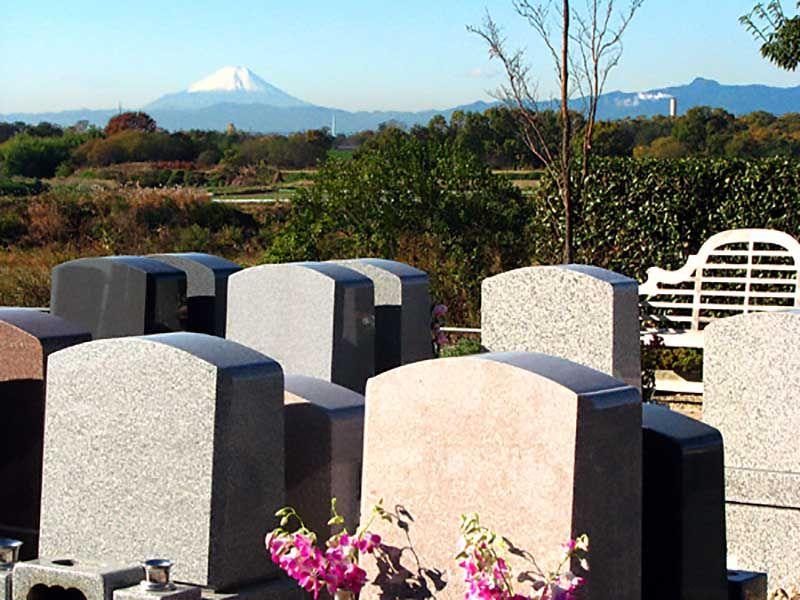 西上尾メモリアルガーデンから望む富士山