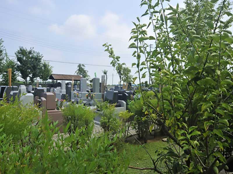久喜聖地公苑 木々に囲まれた墓域