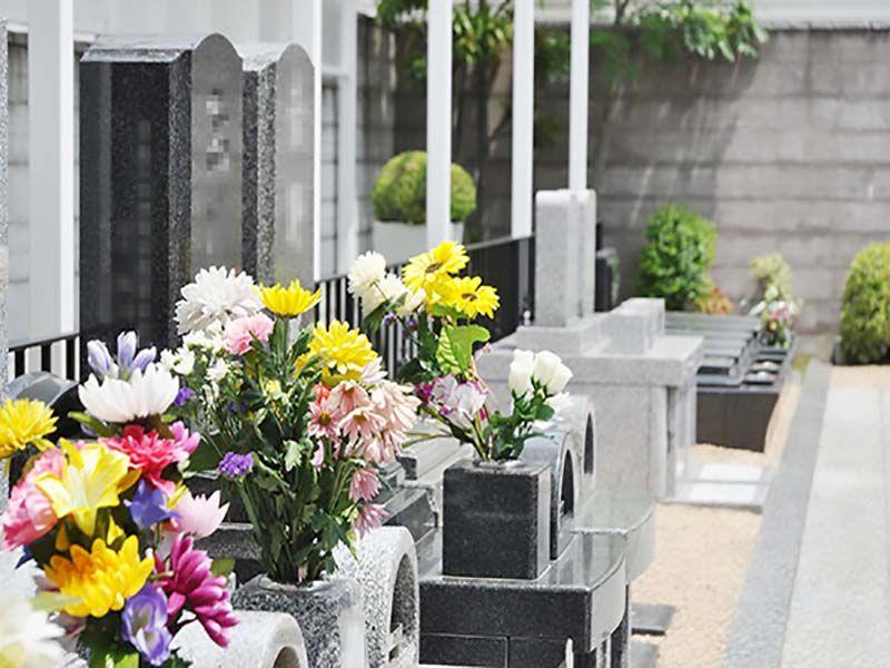 川口元郷聖地 日当たりが良く明るい墓域