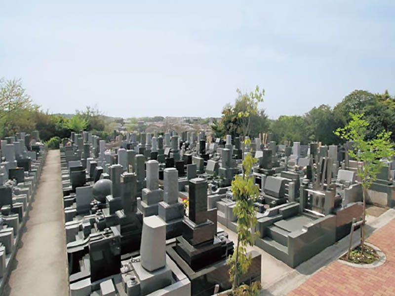 戸塚長沼霊苑 開放感のある墓域