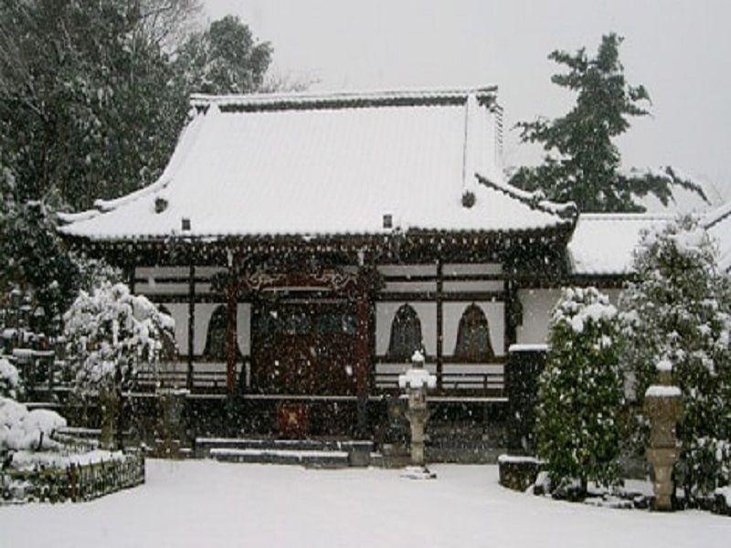 本長寺 雪化粧した本堂